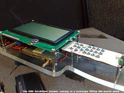 STNC HitchHiker browser running on a prototype TTPcom GSM mobile phone